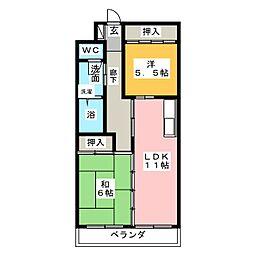 サザン名駅WEST[2階]の間取り
