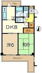 グレイスハイツ2[3階]の間取り