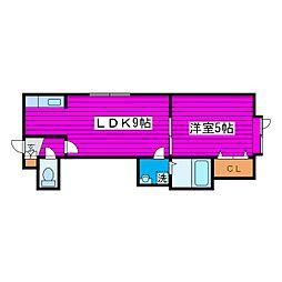 札幌市営東豊線 新道東駅 徒歩13分の賃貸アパート 3階1LDKの間取り