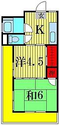 安藤コーポ[1階]の間取り