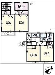 [タウンハウス] 三重県鈴鹿市算所4丁目 の賃貸【/】の間取り