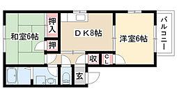 愛知県名古屋市守山区小幡2丁目の賃貸アパートの間取り