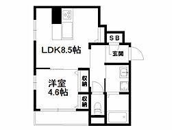 くめマンションEAST[1階]の間取り