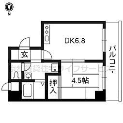 レジデンスオークラ[B405号室]の間取り