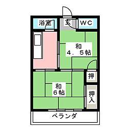 松和荘[1階]の間取り