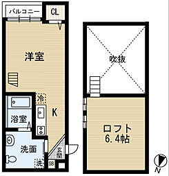 MYU V(エムワイユーファイブ)[2階]の間取り
