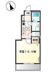 岡山県岡山市東区西大寺新地丁目なしの賃貸アパートの間取り