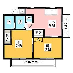 ドミール保呂[2階]の間取り