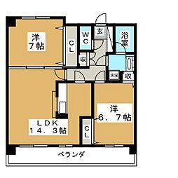 CASA−K[1階]の間取り