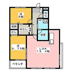 レジデンスALTAII[2階]の間取り