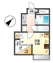 レオパレスミレー[1階]の間取り