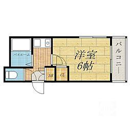 竹中マンション[4階]の間取り