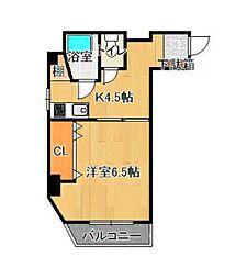 東京都新宿区若葉3丁目の賃貸マンションの間取り