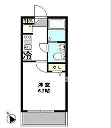 神奈川県横浜市南区前里町2丁目の賃貸アパートの間取り