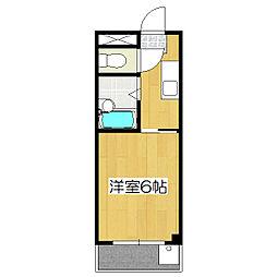 伏見上野ハイツ[2階]の間取り