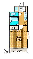 エムプレゾン[2階]の間取り