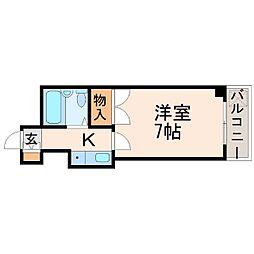 プティメゾン夙川江上町[3階]の間取り