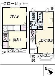 [タウンハウス] 愛知県大府市共西町4丁目 の賃貸【/】の間取り