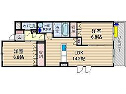 URBAN HILLS SAITOII[3階]の間取り
