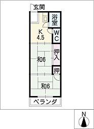 富士美ビル[4階]の間取り