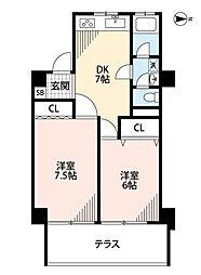 鳳明マンション[4階]の間取り