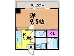 愛媛県松山市末広町の賃貸マンションの間取り