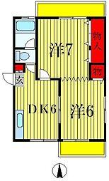 ひばりマンション[5階]の間取り