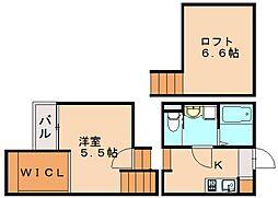 (仮)クレオ土井弐番館[1階]の間取り