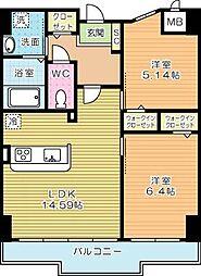 ピュアライフ金田(NATURAL STYLE)[4階]の間取り
