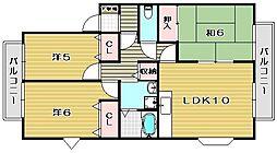 カーサクレール[2階]の間取り