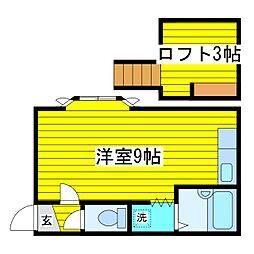 ファミ−ル山本[1階]の間取り