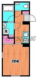 小田急小田原線 南新宿駅 徒歩4分の賃貸マンション 2階1Kの間取り