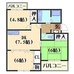 カーサNAKAMURA[1階]の間取り