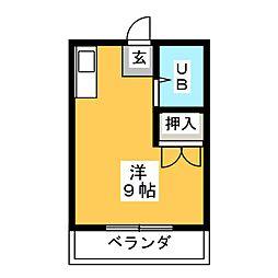 コーポ徳川[3階]の間取り