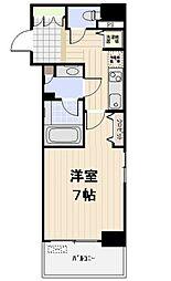 プロスペクト日本橋小網町 2階1Kの間取り