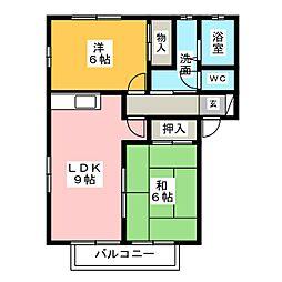 クレエ小沢渡[1階]の間取り