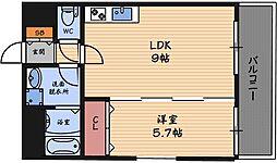 プレジオ福島[4階]の間取り