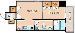 兵庫県神戸市中央区下山手通8の賃貸マンションの間取り