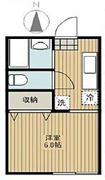 東京都杉並区荻窪3丁目の賃貸マンションの間取り