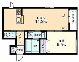 メゾン・ド・ロン[1階]の間取り