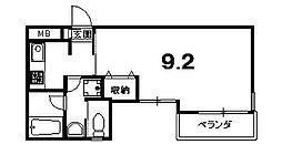 グランコスモ寺町[203号室]の間取り