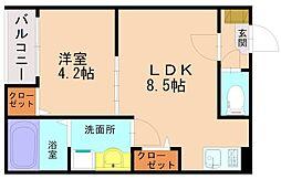 ピアジェ井尻[3階]の間取り