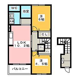 ジョインストリームS&Y A棟[2階]の間取り
