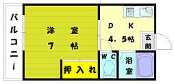 福岡県福岡市東区和白丘4丁目の賃貸マンションの間取り