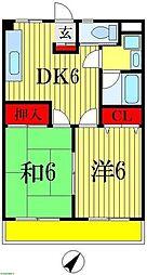 ニューサンモール 4階2DKの間取り