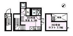 DUPLEST千川[2階]の間取り