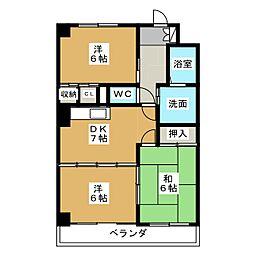 シェールフジエ[2階]の間取り