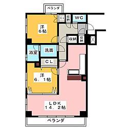コントレール桜[2階]の間取り