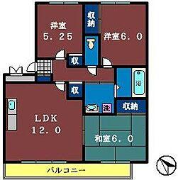 八千代台南ガーデンパレスC棟[303号室]の間取り
