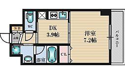 ドルチェヴィータ新大阪[616号室]の間取り